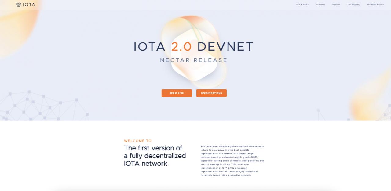 IOTA 2.0 DevNet (Nectar) - IOTA的去中心化时代从这里开始!